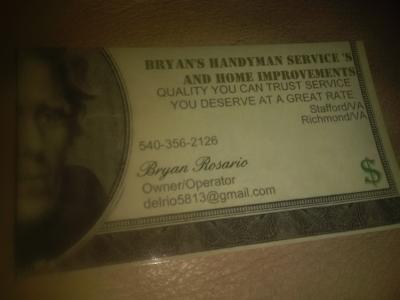 Bryan\'s Handyman Service\'s And Home Improvement\'s - Stafford, VA